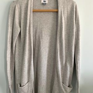 Gap Light Grey Open Cardigan size:extra small